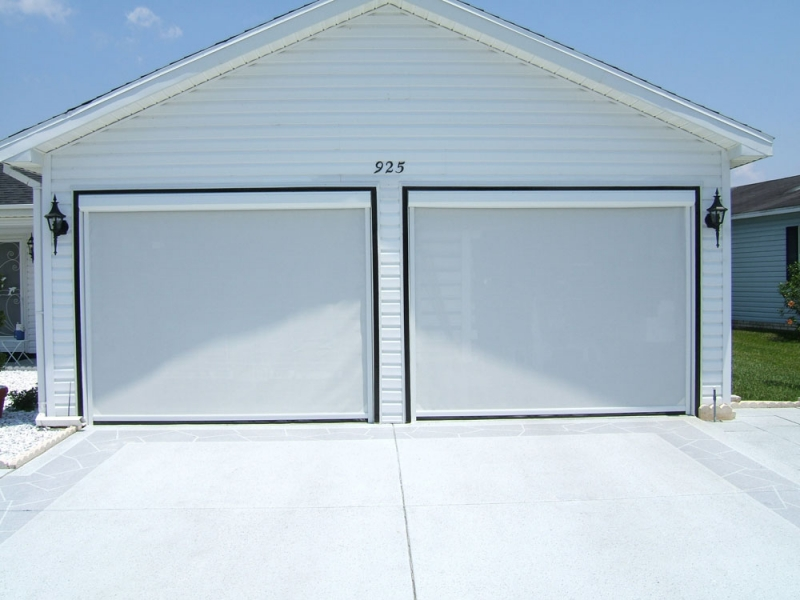 Roll down garage door screen photos wall and door for Roll down garage door screen