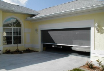 SolarRoll Motorized Garage Door Screens